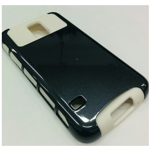 Samsung Galaxy S5 Dual Layer Hybrid Case - Black/white
