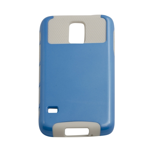 Samsung Galaxy S5 Dual Layer Hybrid Case - Blue/white