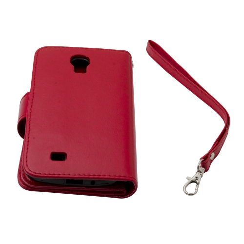 Esource Parts Wallet Case for Samsung Galaxy S4 - Hot Pink