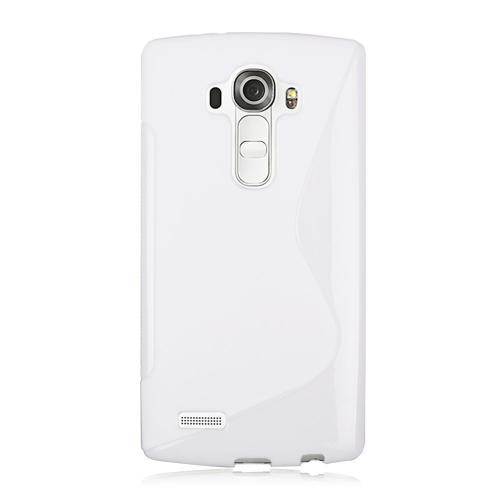 Coque en TPU en forme de S pour LG G4 - blanc