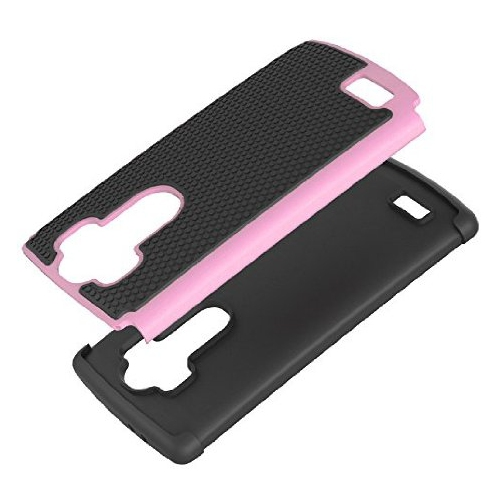 LG G4 Dual Layer Hybrid Armor Protective Case Cover - Pink
