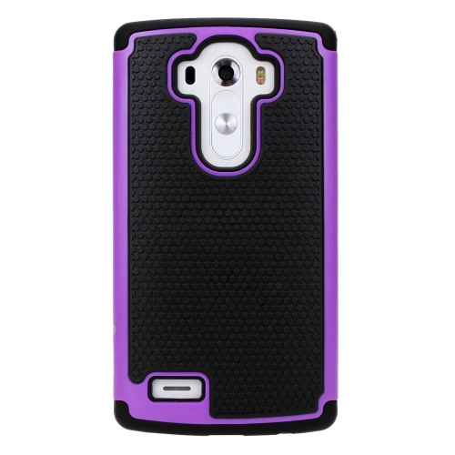 LG G4 Dual Layer Hybrid Armor Protective Case Cover - Purple