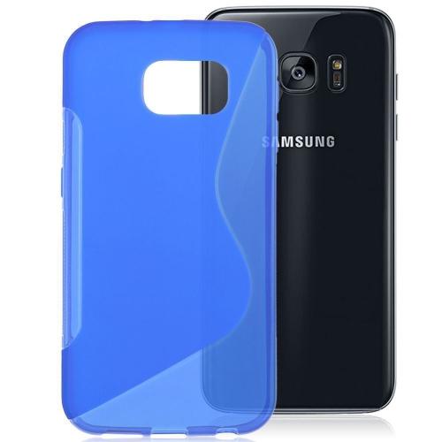 Samsung Galaxy S7 TPU S - Shape Case - Blue