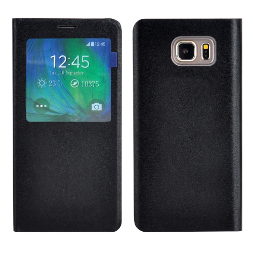 Samsung Galaxy S7 Edge Leather Flip cover Case - Black