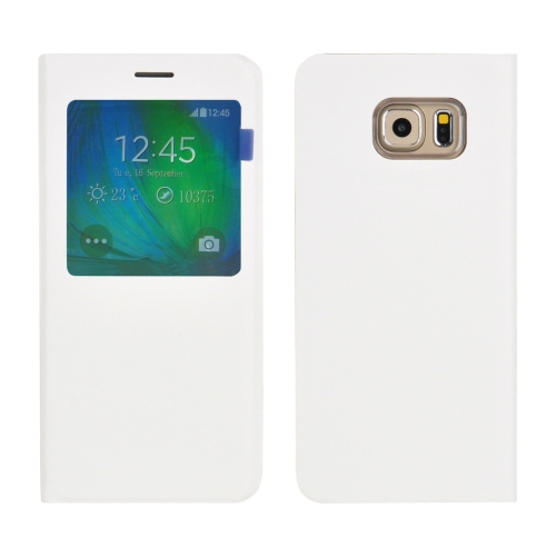 Samsung Galaxy S7 Edge Leather Flip cover Case - White