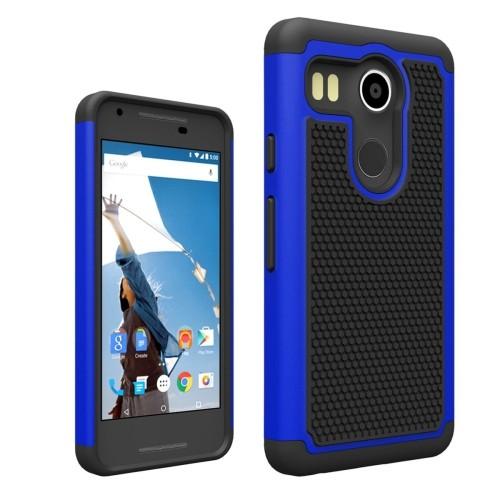 LG Nexus 5X Hybrid Shock Proof Rugged Case - Blue