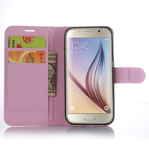 Samsung Galaxy S7 Wallet Style Flip Case With Stand - Pink