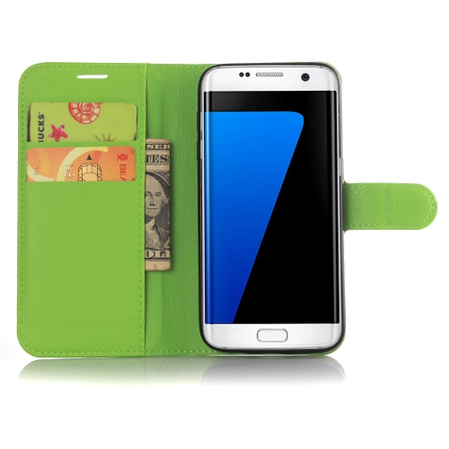 Samsung Galaxy S7 Wallet Style Flip Case With Stand - Green