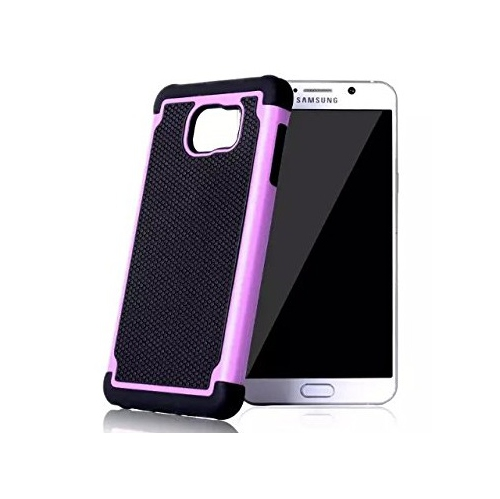 Samsung Galaxy Note 5 Hybrid Rubber Hard Cover - Pink