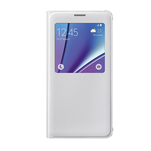 Samsung Galaxy Note 5 Leather Flip cover Case - White
