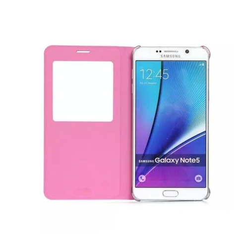 Samsung Galaxy Note 5 Leather Flip cover Case - Pink