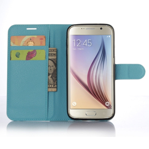 Samsung Galaxy S7 Edge Wallet Style Flip Case With Stand - Baby Blue