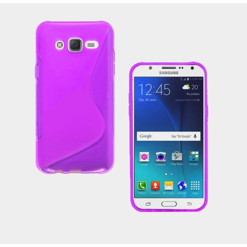 Samsung Galaxy S7 Edge TPU S - Shape Case - Purple