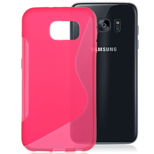 Esource Parts Fitted Soft Shell Case for Samsung Galaxy S7 Edge - Pink