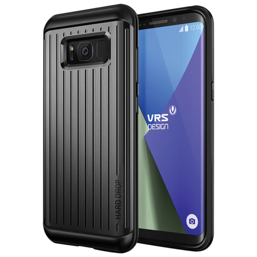 VRS Design Thor Fitted Soft Shell Case for Galaxy S8 - Dark Silver