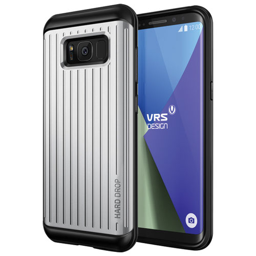 VRS Design Thor Fitted Soft Shell Case for Galaxy S8 - Satin Silver