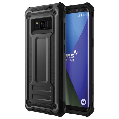 VRS Design Terra Guard Fitted Soft Shell Case for Galaxy S8 - Dark Silver