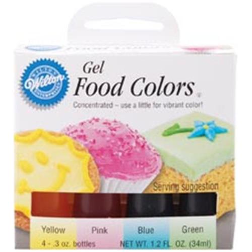 Wilton 448965 Gel Food Coloring Set 4-Pkg-Easter : Bakeware ...