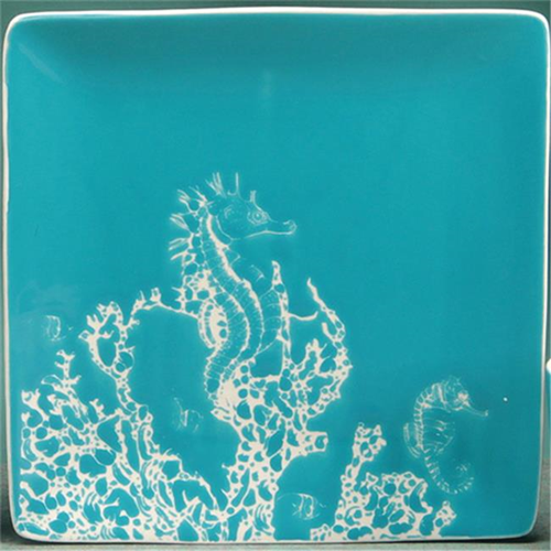 Unison Gifts Tcd 858 Seahorse Dinner Plate 10 5 In Dinnerware