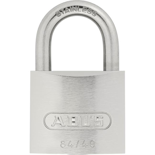 ABUS 84IB by 40 C KD Weatherproof Stainless Steel Keyed Different Carded  Padlock