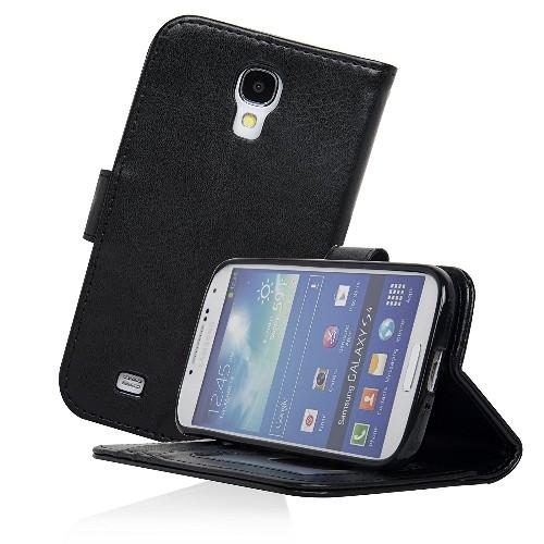 Navor Protective Flip Wallet Case for Samsung Galaxy S4 - Black