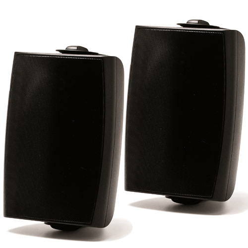 "Prologue 8"" 140W Outdoor-Indoor Speakers Pair 8 Ohms Or 70V With Wall Mounting Brackets Black"