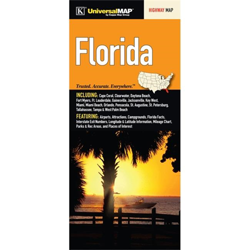 Universal Map 11153 Florida Fold Map Other Travel Luggage Best