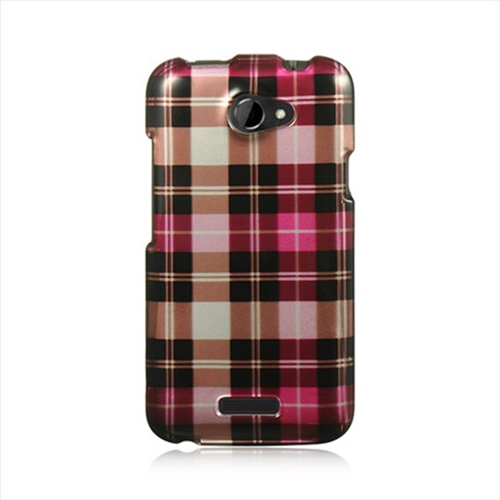 DreamWireless CAHTCONEXHPCK Htc One X Crystal Case - Hot Pink Checker