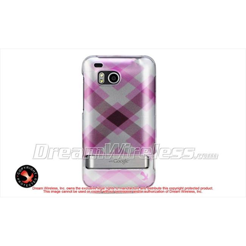 DreamWireless CAHTCINCHDPKPTCK Htc 6400 Thunderbolt Incredible Hd Crystal Case - Pink Pastel Checker
