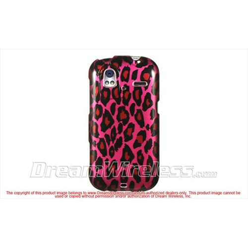 DreamWireless CAHTCAMAZEHPLE Htc Amaze 4G Ruby Crystal Case - Hot Pink Leopard