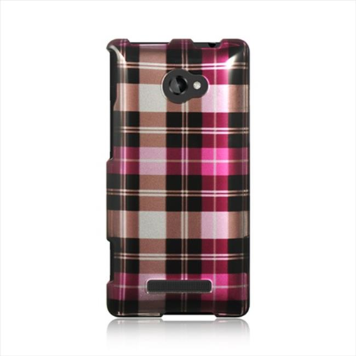 DreamWireless CAHTC8XHPCK Htc 8X Crystal Case - Hot Pink Checker