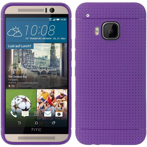 DreamWireless CSHTCM9-D-PP HTC M9 Hybrid Case With Dots Purple