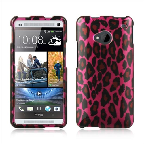 DreamWireless CAHTCM7HPLE Htc One M7 Crystal Case - Hot Pink Leopard