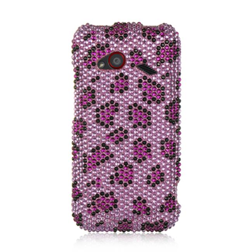 DreamWireless FDHTCINC4GPPLE Htc Droid Incredible 4G Lte Full Diamond Case Purple Leopard