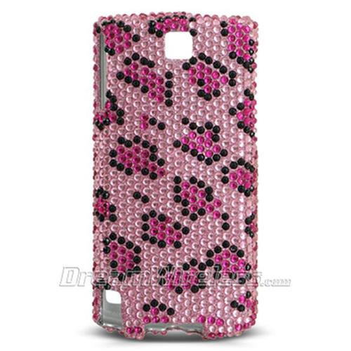 DreamWireless FDHTCPUREPKLE Htc Pure Touch Diamond 2 Full Diamond Case Pink Leopard