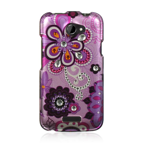 DreamWireless SDAHTCONEXPPVIOLET HTC One X Spot Diamond Case Purple Violet