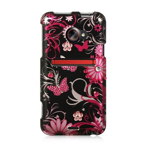 DreamWireless SDAHTCEVO4GPKBF HTC Evo 4G LTE Spot Diamond Case Pink Butterfly