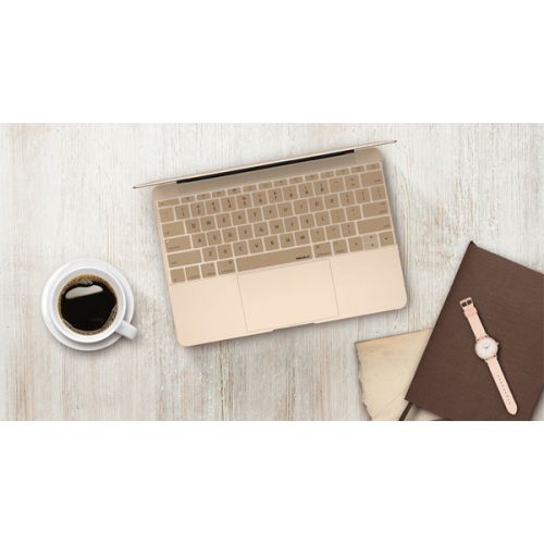 Macally KBGUARDMBGD MacBook 2015 Edition Keyboard Protector Gold - 12 in.
