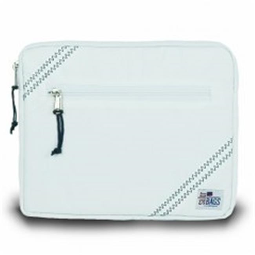 Sailor Bags 343-WB iPad Sleeve White with Blue Trim