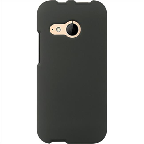 Dreamwireless Fitted Soft Shell Case for HTC One M8 Mini; HTC One Mini2; HTC One M8 - Black