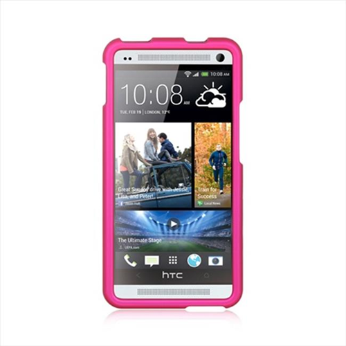 DreamWireless CRHTCM7HP HTC One M7 Rubber Case Hot Pink