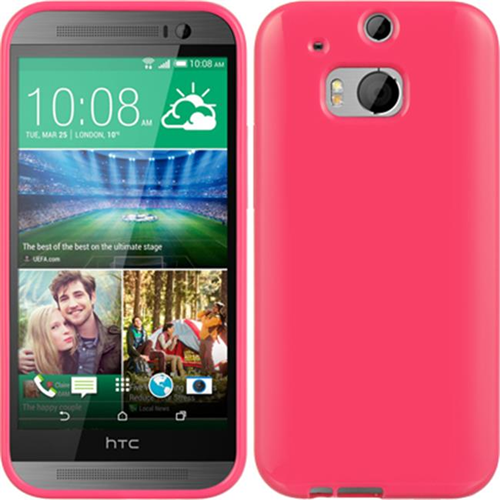 DreamWireless CSHTCM8HP HTC One 2 M8 Crystal Skin Case Hot Pink