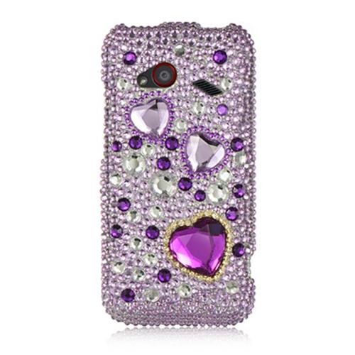DreamWireless FDHTCINC4GPPH Htc Droid Incredible 4G Lte Full Diamond Case Purple Heart