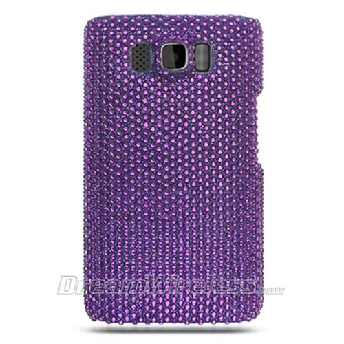 DreamWireless FDHTCHD2PP-R Htc Hd2 Full Diamond Case Purple Rear Only