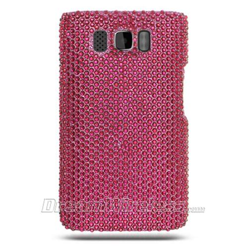 DreamWireless FDHTCHD2HP-R Htc Hd2 Full Diamond Case Hot Pink Rear Only