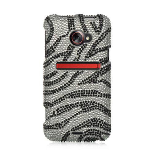 DreamWireless FDHTCEVO4GSLZ Htc Evo 4G Lte Full Diamond Case Silver Zebra