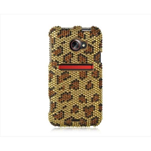 DreamWireless FDHTCEVO4GGOLE Htc Evo 4G Lte Full Diamond Case Golden Leopard