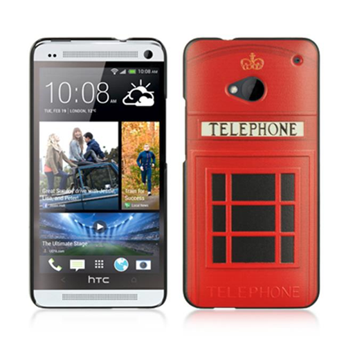 Dreamwireless Fitted Hard Shell Case for HTC One M7 - Black; Red
