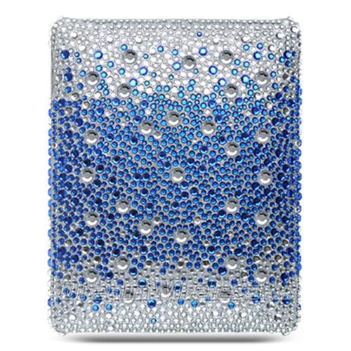 DreamWireless IPOD-FDIDBLHSP-R iPad Full Diamond Case Splash Rear Case - Blue