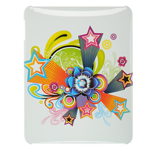 DreamWireless IPOD-CAIDWTFLST-R Apple iPad Crystal Case Rear Case Only With Flower & Star - White